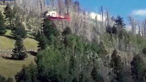 Bruchlandung in dünner Bergluft: Rettungs-Helikopter kracht in Waldstück