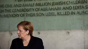 Schwierige Gespräche in Israel: Merkel erinnert an Deutschlands dunkle Vergangenheit