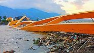 Zerstörung in Indonesien: Wie der Tsunami alles überrollte