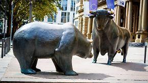 Frankfurter Börsen-Statue wird 30: Bulle und Bär feiern Geburtstag