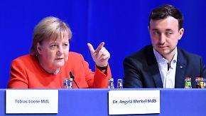 """Merkel: """"Kein Fingerhakeln miteinander"""": Junge Union geht mit Kanzlerin hart ins Gericht"""