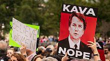 Vor Kavanaugh-Abstimmung: Hunderte protestieren am US-Kongress