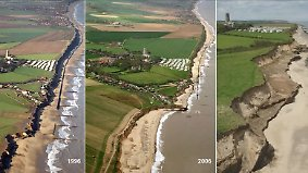 Der Macht des Meeres ausgesetzt: Nordsee frisst britisches Küstendorf