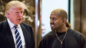 Promi-News des Tages: Kanye West reist zum Mittagessen ins Weiße Haus