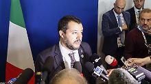 Innenminister Salvini von der Lega hat durchgesetzt, dass Italien mehr Schulden macht als der EU lieb ist.