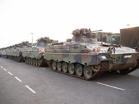 Die Panzer wurden in Emden verschifft.