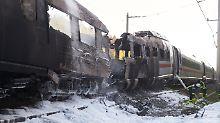Verspätungen und Zugausfälle: ICE-Brand gelöscht - Streckensperrung bleibt