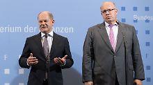 Streit um Steuer-Entlastungsplan: Scholz weist Altmaiers Reformpapier zurück