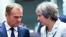 """""""Kein Grund für Optimismus"""": Tusk erwartet neue Brexit-Ideen von May"""