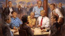 Im Kreise ehemaliger Präsidenten: Trump erntet Spott für Gemälde-Auswahl