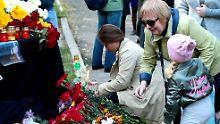 Trauer um die Opfer von Kertsch.