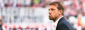 """""""Vor dem Spiel war es sehr schön, nach drei Minuten wurde es dann immer unschöner."""" Stuttgarts Neu-Coach Markus Weinzierl beschreibt, wie sich sein erster Bundesliga-Auftritt nach rund eineinhalb Jahren Pause angefühlt habe. Schon in der 3. Minute kassierte sein BVB das erste Gegentor."""