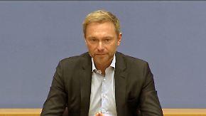 """Lindner zu Merkels Vorsitz-Entscheidung: """"Frau Merkel verzichtet auf das falsche Amt"""""""