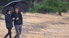 Regen, Reden, Romantik: Letzter Stopp für Harry und Meghan