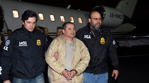 """Luftraum für Drogenboss gesperrt: Prozess gegen """"El Chapo"""" beginnt in New York"""