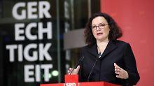 """SPD soll Inhalte diskutieren: Nahles will """"fetten Streit im guten Sinne"""""""