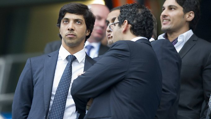 Does Mansur bin Zaid al-Na'ayan (left) leave his pocket to fund the club?