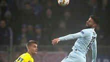 Erzielt den einzigen Treffer des Spiels seines FC Chelsea gegen Bate Borissow: Olivier Giroud.