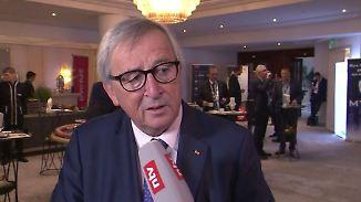 """Juncker beim SZ-Wirtschaftsgipfel: """"Sie überschätzen die Kraft von Frau Merkel"""""""