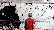Tödlicher Gewaltausbruch: In der israelischen Stadt Aschkelon schlug eines der Geschosse aus dem Gazsatreifen ein.
