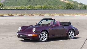 Den 911 (Typ 964) gab es auch als Cabrio und in echt schrillen Farben.
