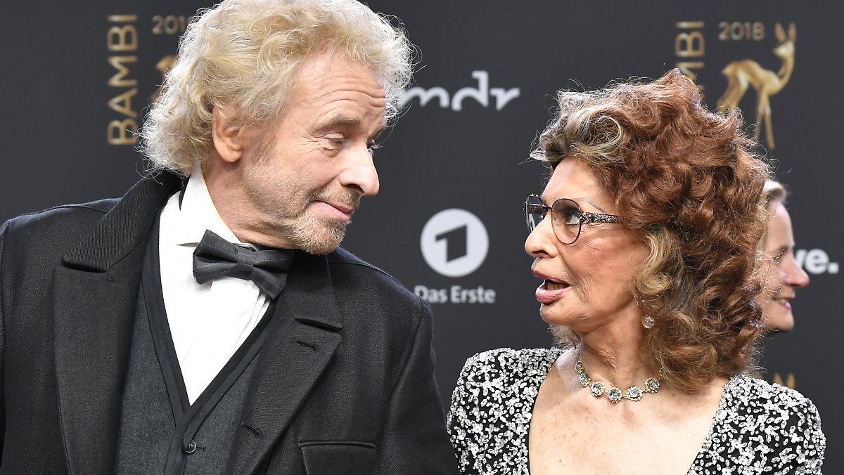 Gottschalk erscheint zum Date mit Sophia Loren