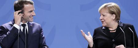 Mahner für die Mutlosen: Macron umwirbt die Deutschen