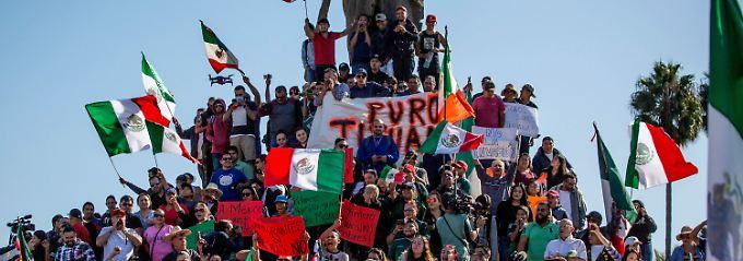 """Raus mit den Invasoren"": Mexikaner protestieren gegen Migranten"