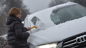 Vorboten des Winters: Es windet teils kräftig und flockt
