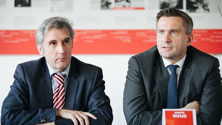 Im November stellte Dulig Frank Richter als Landtagskandidaten der SPD vor.