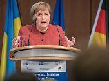 """Sanktionen verteidigt: Merkel: """"Es gibt keine militärische Lösung"""""""