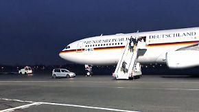 Rückreise nach turbulentem Wochenende: Pannen-Maschine fliegt Kanzlerin hinterher