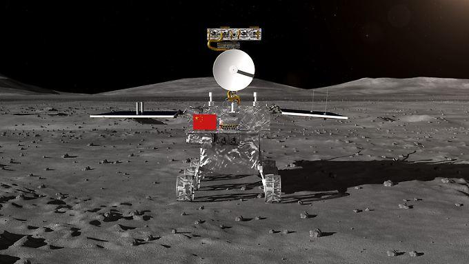 Rover der chinesischen Mondsonde Chang'e 4 (Computergrafik der State Administration of Science, Technology and Industry for National Defense, SASTIND)