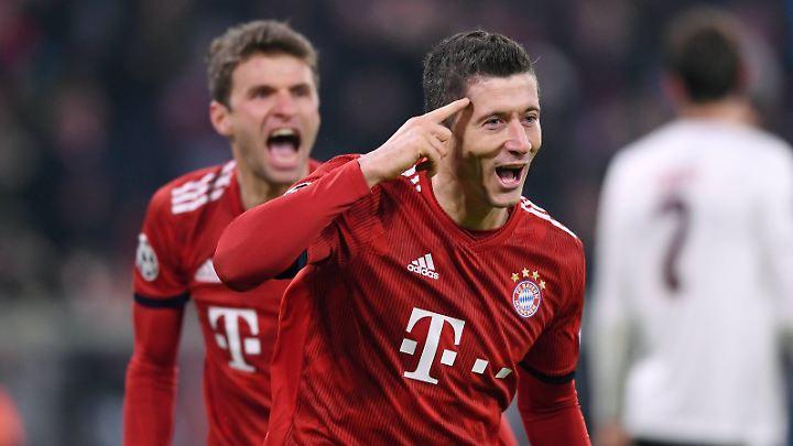 Lewandowski sieht den FC Bayern im Aufwärtstrend.