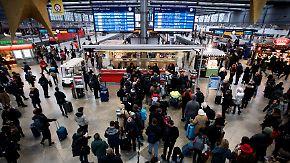 Bahn-Chaos dauert an: Warnstreik legt Zugverkehr über Stunden lahm
