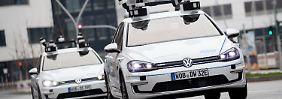 Neun Kilometer lange Strecke: VW testet Roboter-Autos in Hamburg
