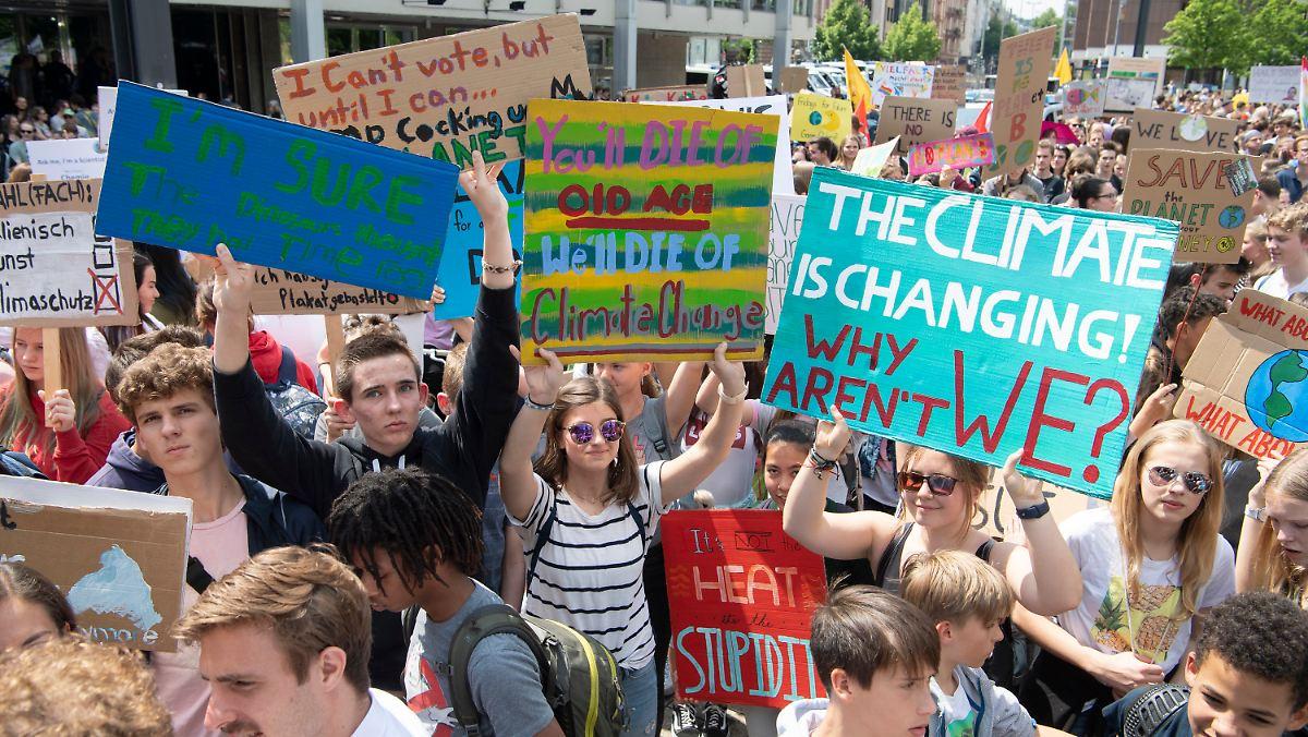 Zehntausende demonstrieren für Klimaschutz
