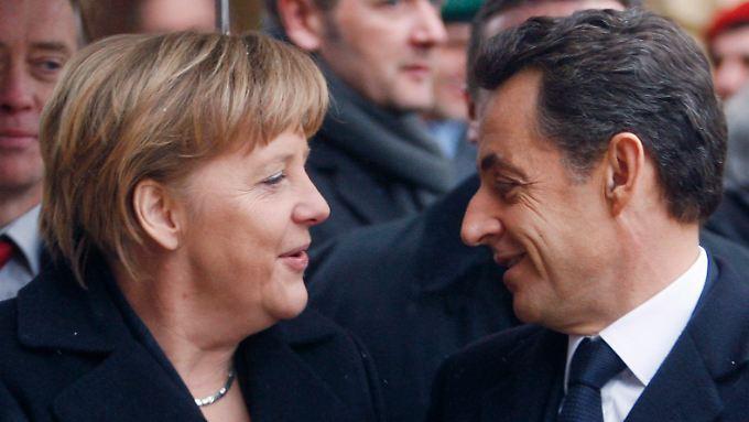 Nicht immer ein Herz und eine Seele, aber bei der Euro-Bonds-Frage ist man sich einig: Angela Merkel und Nicolas Sarkozy.