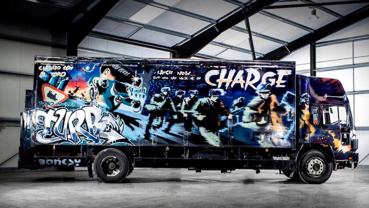Für bis zu 1,8 Millionen Dollar - Banksy-Truck kommt unter den Hammer