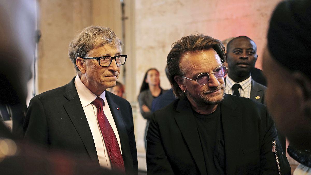 Dafür sammeln Bill Gates und Bono Spendengelder