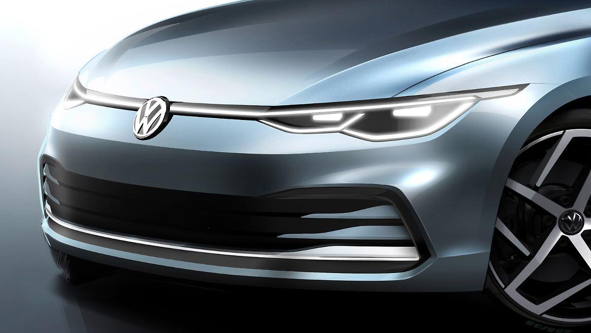 VW zeigt erste Skizze des neuen Golf 8