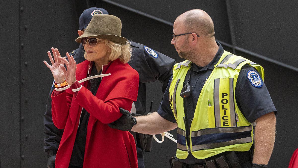 Jane Fonda witzelt über Nacht im Knast
