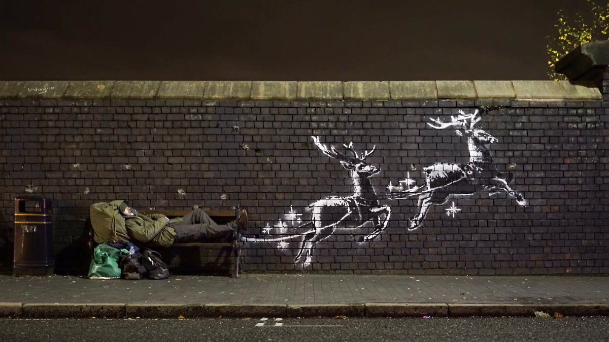 Banksy schickt wieder Weihnachtsgrüße