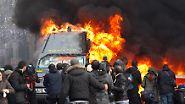 Mehr als 100 Verletzte bei Straßenschlachten: Berlusconi-Gegner randalieren in Rom