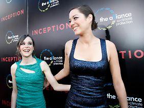 """Ellen Page und Marion Cotillard: die weiblichen Stars in """"Inception""""."""