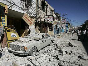 Das Erdbeben zerstörte Haitis Hauptstadt Port-au-Prince.