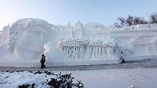 Harbin, die frostige Stadt: Kunstwerke aus Schnee und Eis