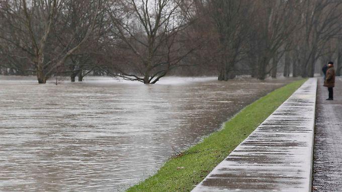 Der Hochwasserpegel in Bonn und Köln hat seinen Scheitelpunkt überschritten, das Hochwasser des Rheins fällt langsam.
