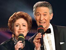 Mit ihrem Bruder Silvio Francesco.