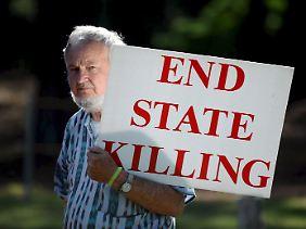 Protest gegen die Todesstrafe in Georgia.